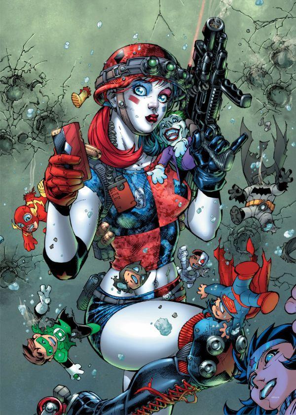 "Official DC Comics Jim Lee Collection Harley Selfie #Displate artwork by artist ""DC Comics"".… | Displate thumbnail"