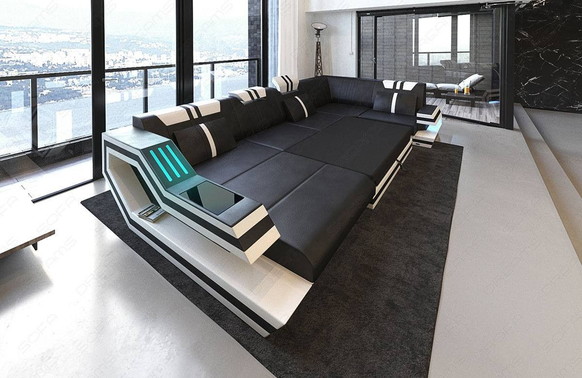 Design Sectional Sofa Hollywood U Shape With Led And Usb In 2020 With Images Modern Sofa Living Room Leather Sectional Sofas Fabric Sectional Sofas