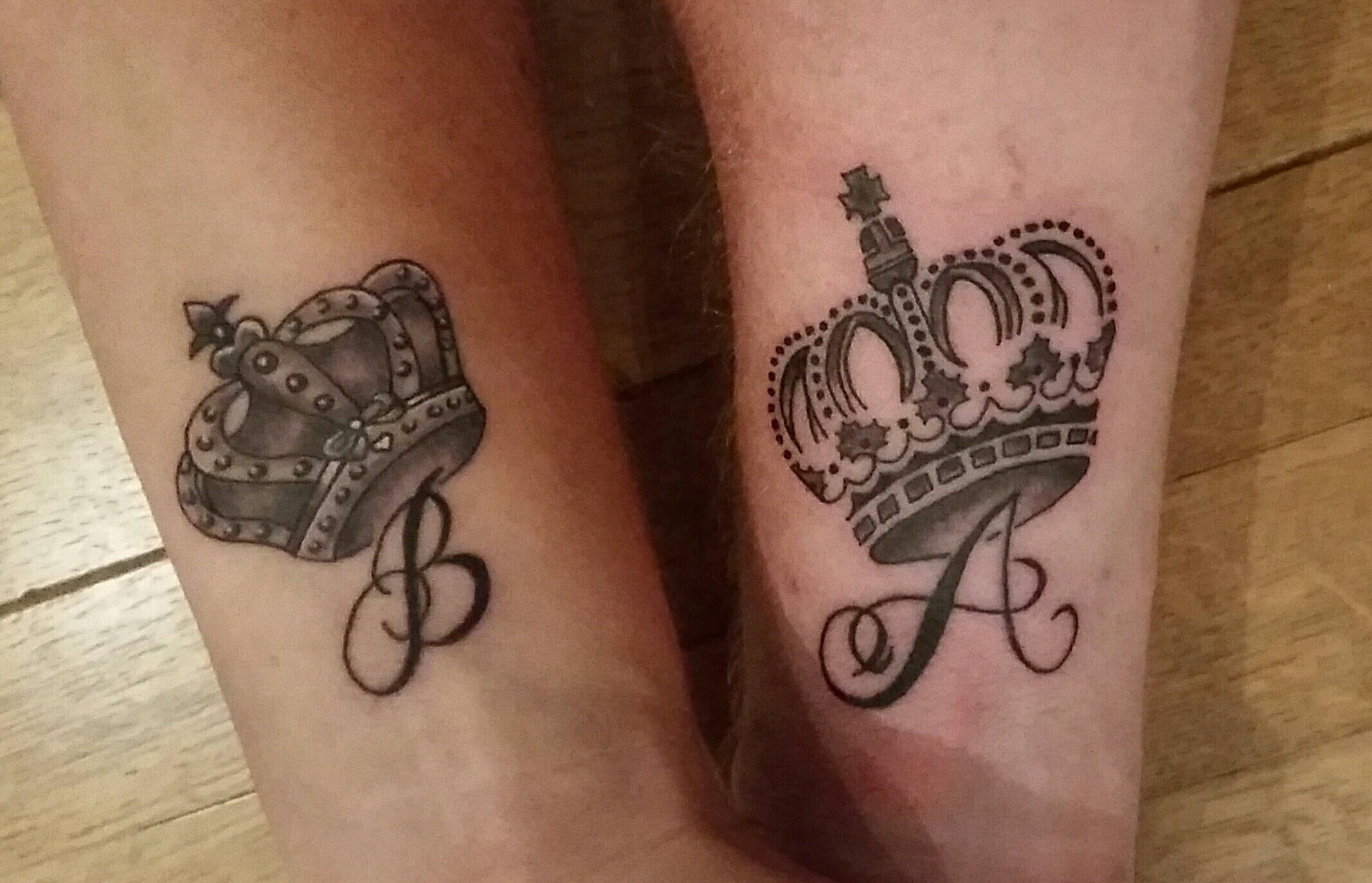 Queen King Tattoo With Our Initials King Tattoos Matching Couple Tattoos Matching Tattoos King queen tattoo hd images