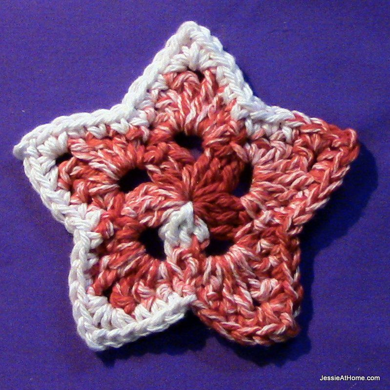 5 Point Star Free Pattern Instruction By Video In Writing And In