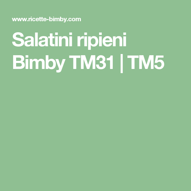 SCARICA LIBRI BIMBY TM31 DA