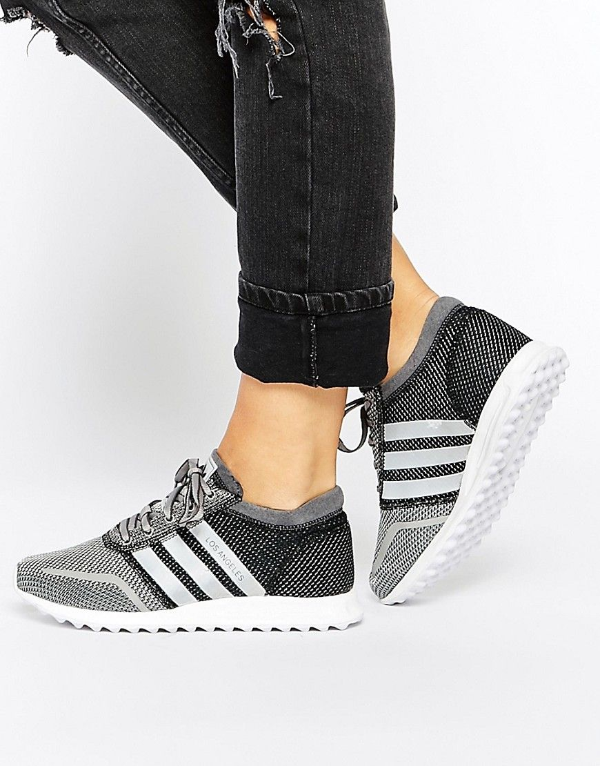 adidas Originals LOS Angeles Gray/Silver Sneakers at asos.com