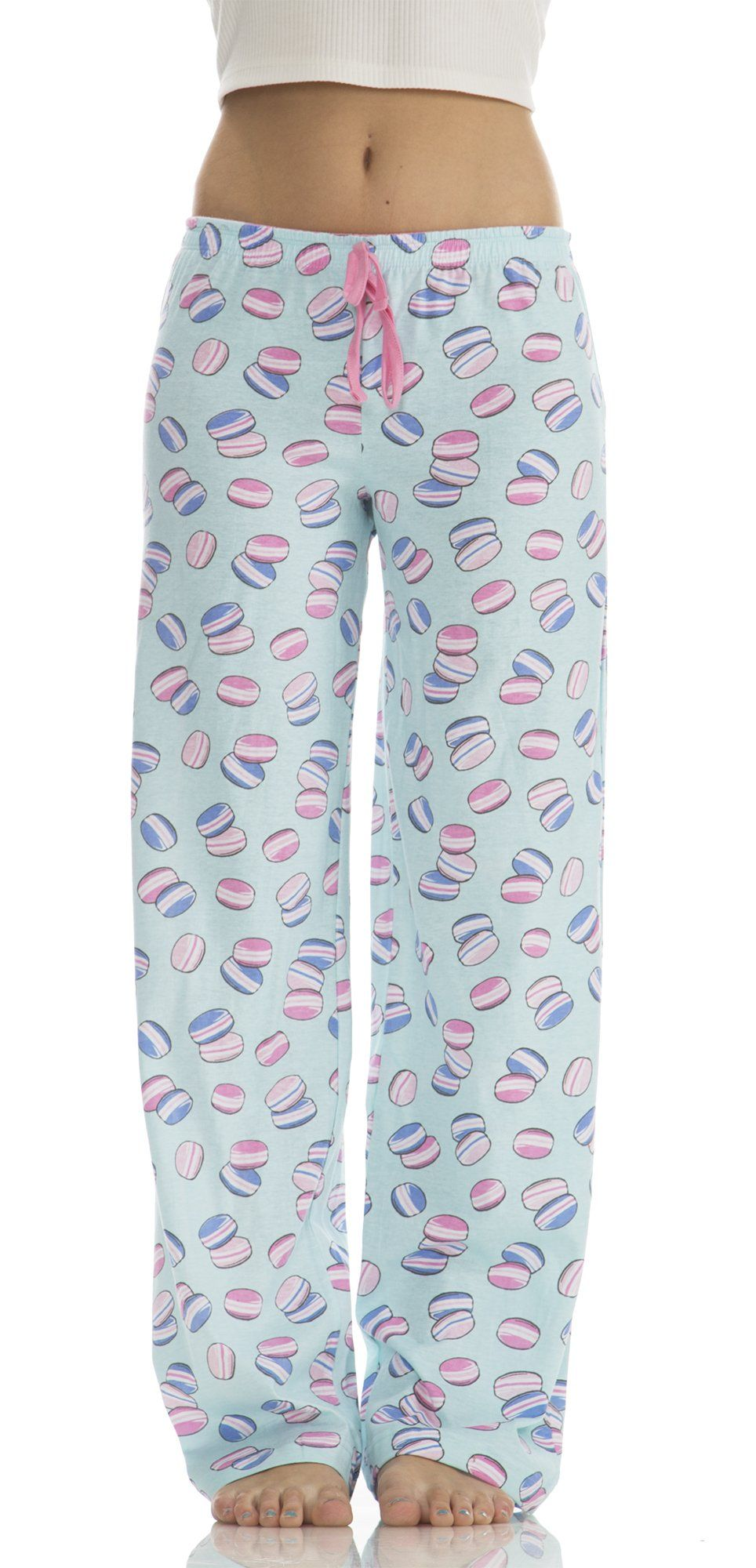 6b9d675b045c Dollhouse Women s Cotton Cute Print Pajama Bottoms In Cookie Blue ...