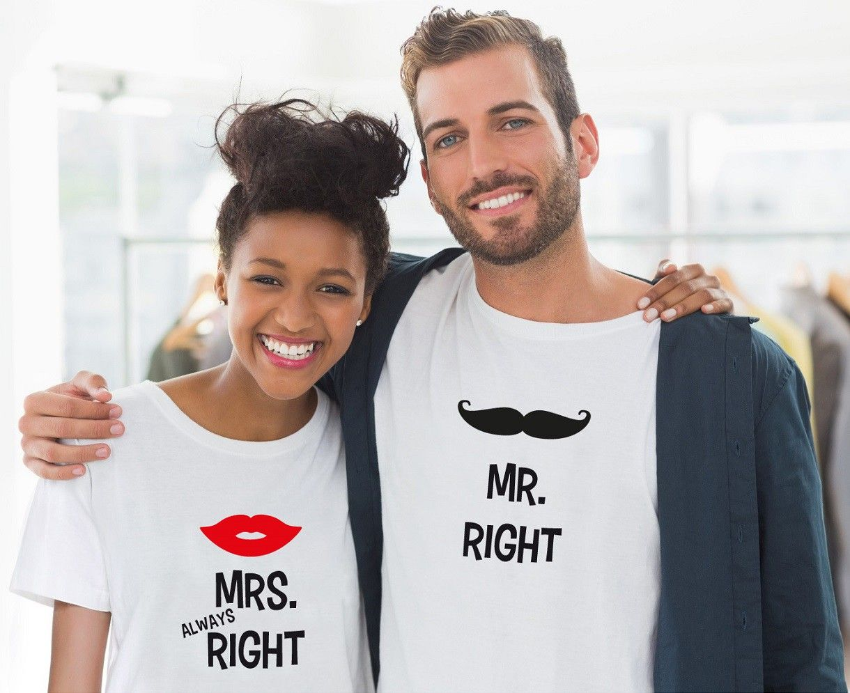 Mr Right & Mrs Always Right T-Shirts | Pinterest | Geschenk hochzeit ...