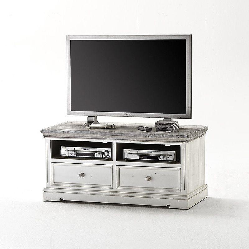 TV Lowboard »OPUS« Recycle-Kiefer weiß - sandweiß Jetzt bestellen - wohnzimmer kiefer weis