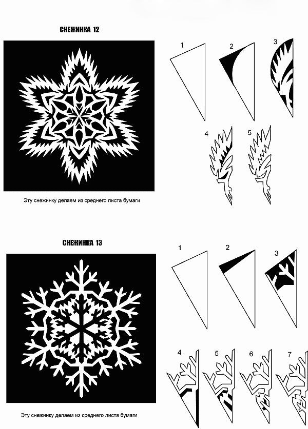 Shemy Snezhinok 5 Paper Snowflake Designs Paper Snowflakes Paper Christmas Decorations