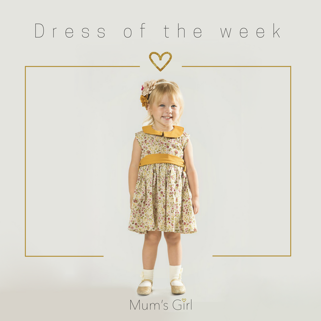Dress of the week: Charlotte Dress - Primula  This gorgeous above the knee frock will see your little flower through every day and every occasion. See her bloom in this delicate floral print with pretty peter pan collar and hidden zipper at back. Contrast sash can be tied front or back.