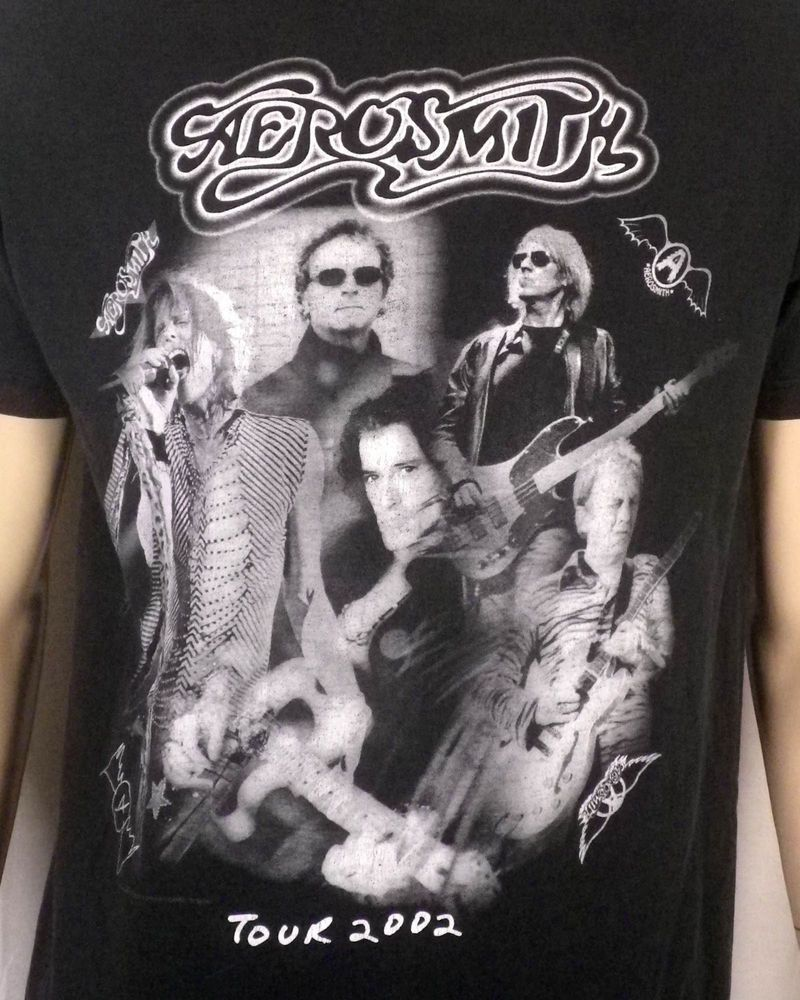 vtg 2002 Aerosmith Tour TShirt dates Concert classic rock