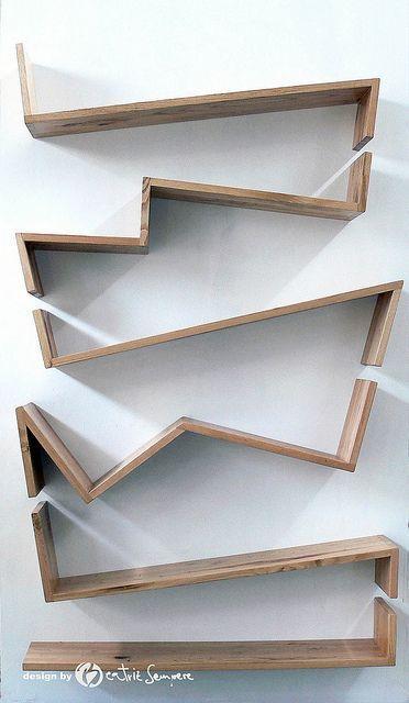 DIY Shelves Trendy Ideas : Libreria Zig Zag by Beatriz Sempere by ...