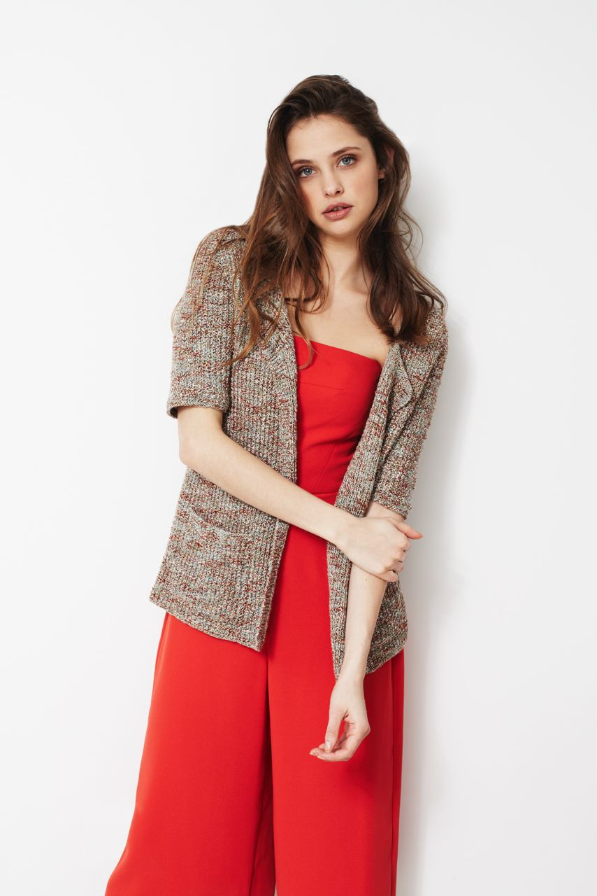 longline jacket knitted in debbie bliss juliet a summer tweed