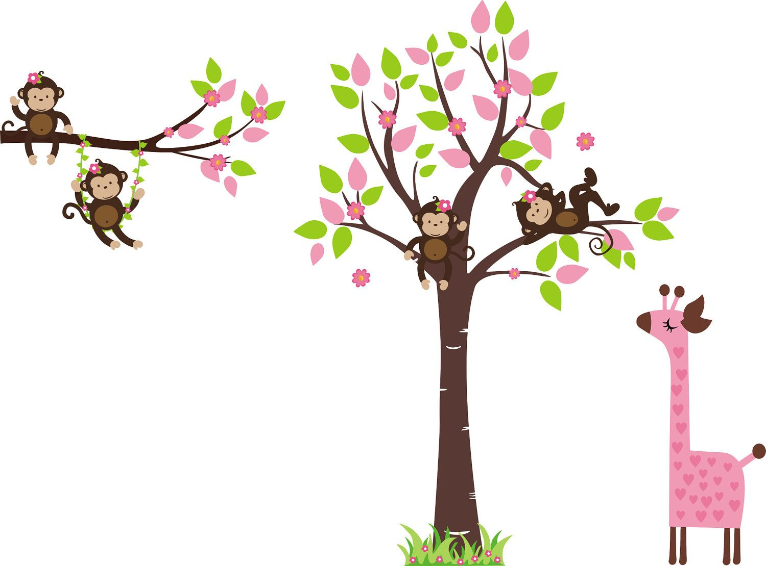 Monkey Bedroom Decorations Monkey Wall Decal Baby Wall Decal Nursery Wall Decal Wall
