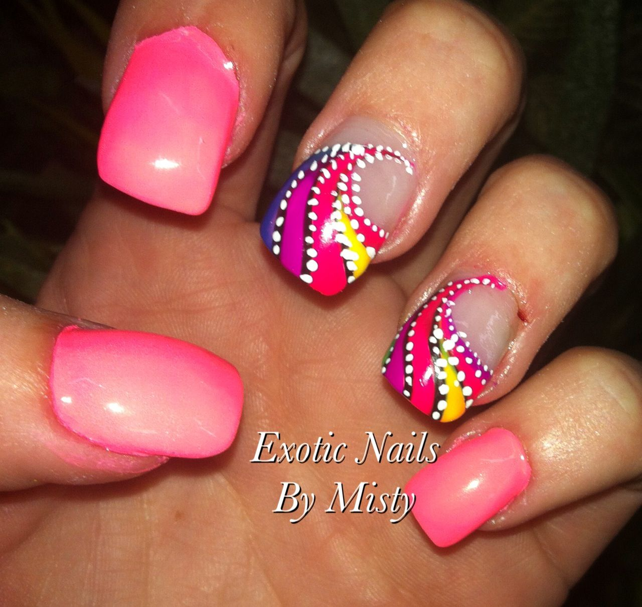 My nail art   Exotic Nails Hand painted nail art   Pinterest ...
