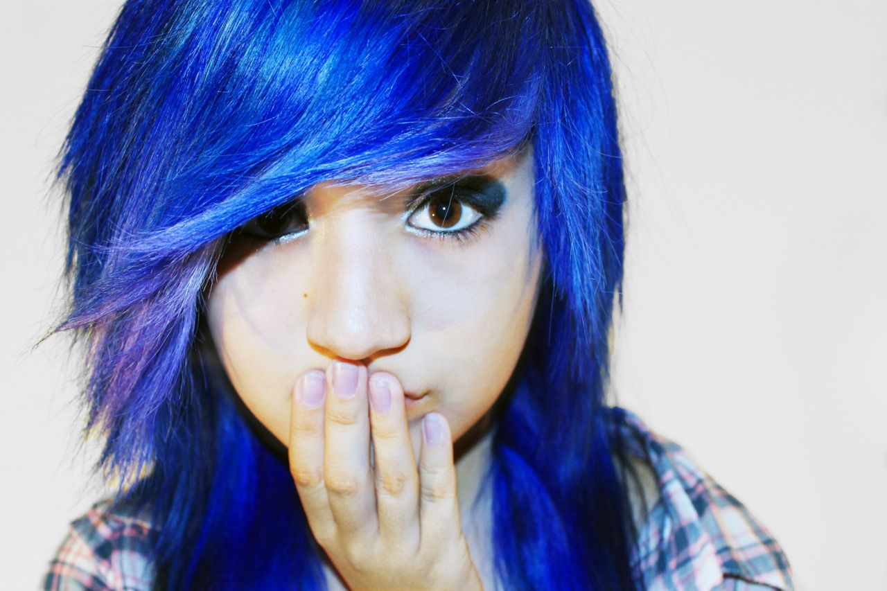 Blue hair hair pinterest blue hair scene hair and