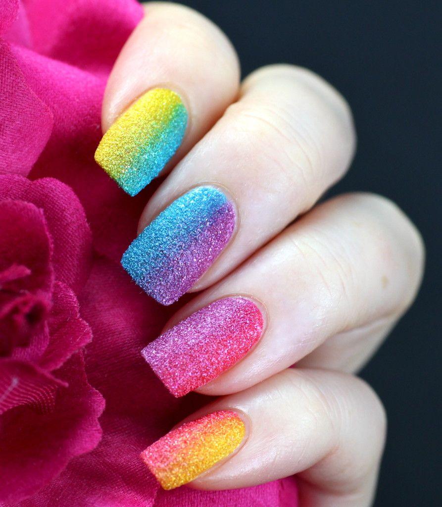 Rainbow gradient with OPI Brazil Beach Sandies