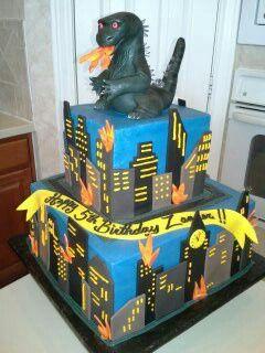 Godzilla cake... | Cakes in 2019 | Godzilla birthday, Godzilla ...