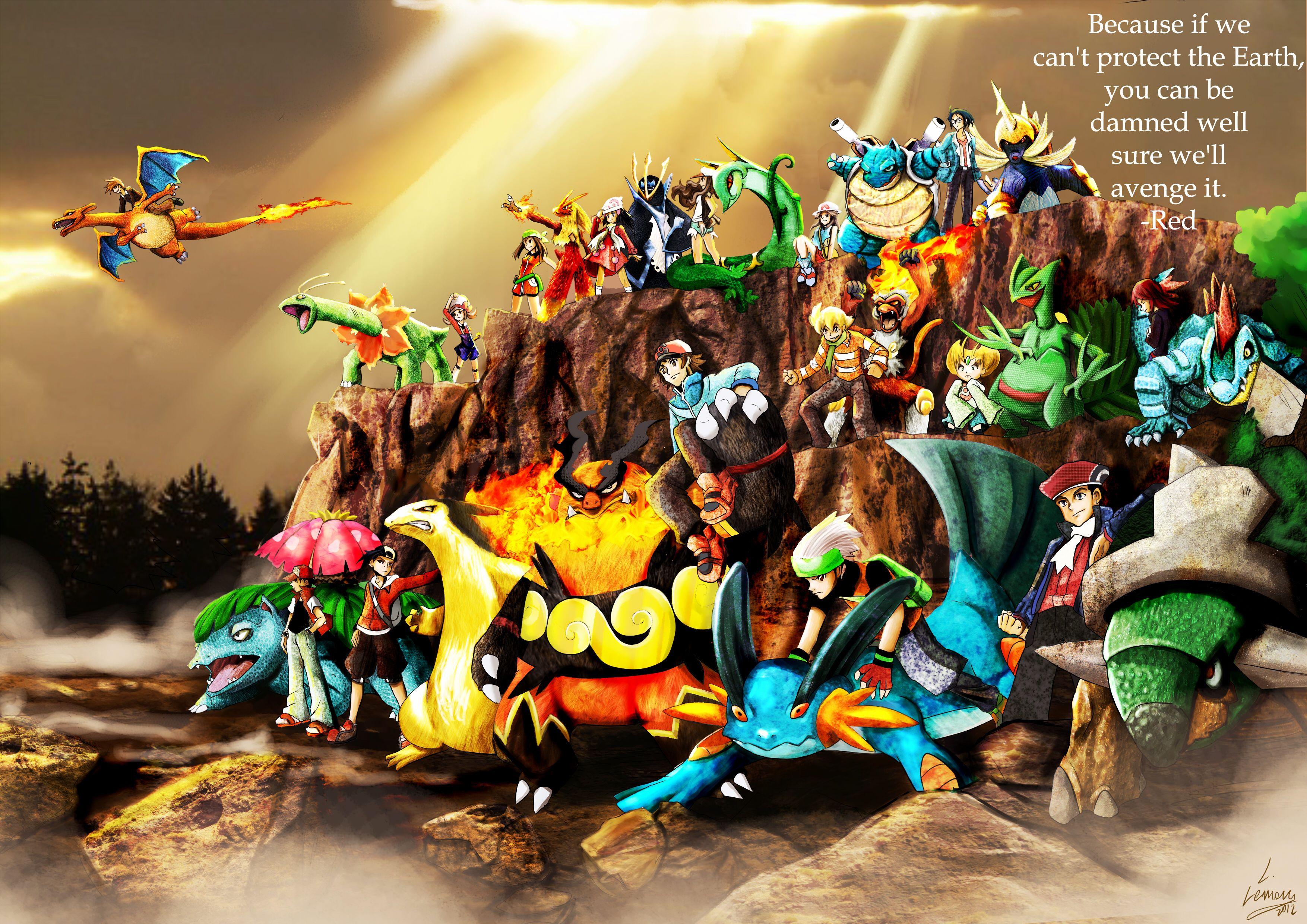Anime Pokemon Pokémon Charizard (Pokémon) Gary Oak