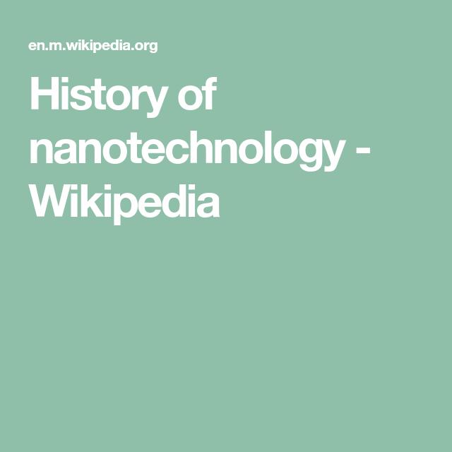 History of nanotechnology - Wikipedia | honey dew list