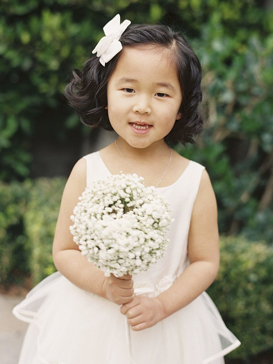 12 Adorable Flower Girl Hairstyles  Flower girl hairstyles, Bow