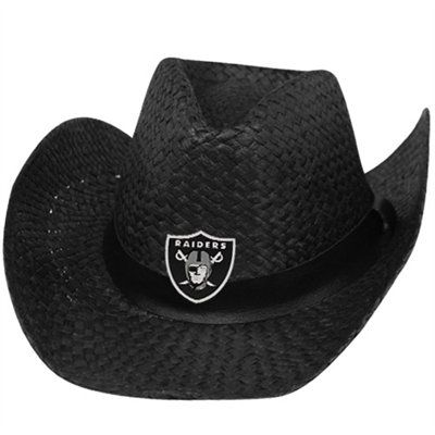 Oakland Raiders Straw Cowboy Hat Black