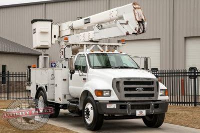 used bucket truck for sale terex hi ranger hr 42 2004 ford f750 utility fleet sales. Black Bedroom Furniture Sets. Home Design Ideas