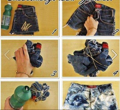 Cómo Decolorar Jeans Caseros Ropa Diy Como Hacer Ropa