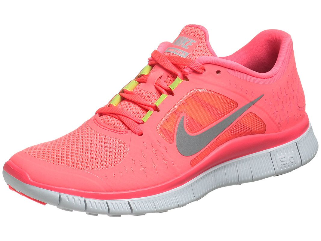 best service 92d04 a9bde Nike FREE run+3 womens shoes in Hot punch Silver