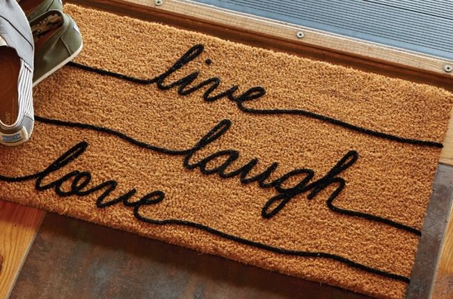 Live Laugh Love Welcome Mat With Images Welcome Mats Live