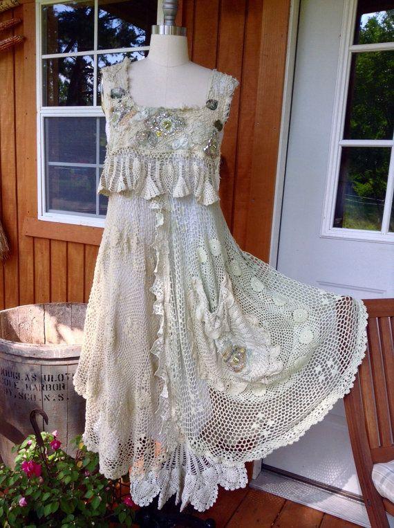 Crochet Dress by Luv Lucy Boho Summer Fields by LuvLucyArtToWear