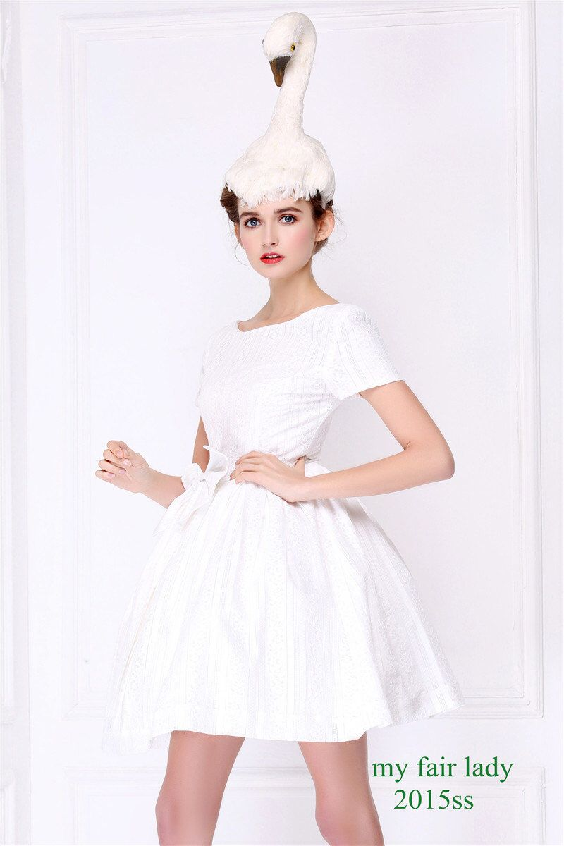 Simple white bridesmaid dress with bow short sleeve minimalist simple white bridesmaid dress with bow short sleeve minimalist white dress little white wedding dress audrey hepburn retro white dress ombrellifo Images