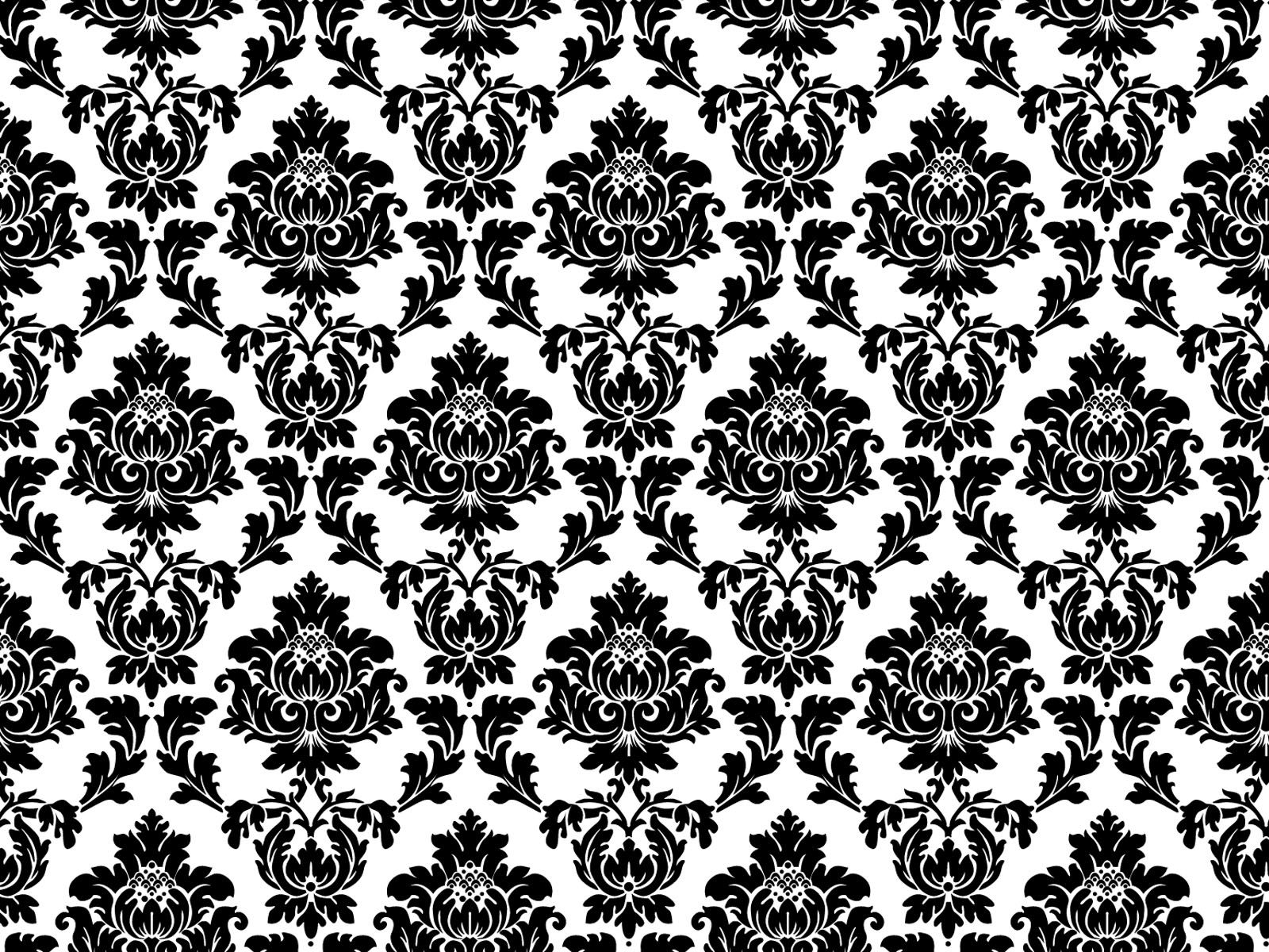 I love this pattern totally me jen pinterest for Black white damask wallpaper mural