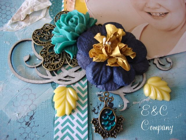 Metals, Resin and Flowers by E&C Company