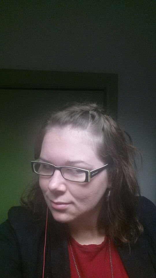 Todays work hair, held in place by one bobby pin.