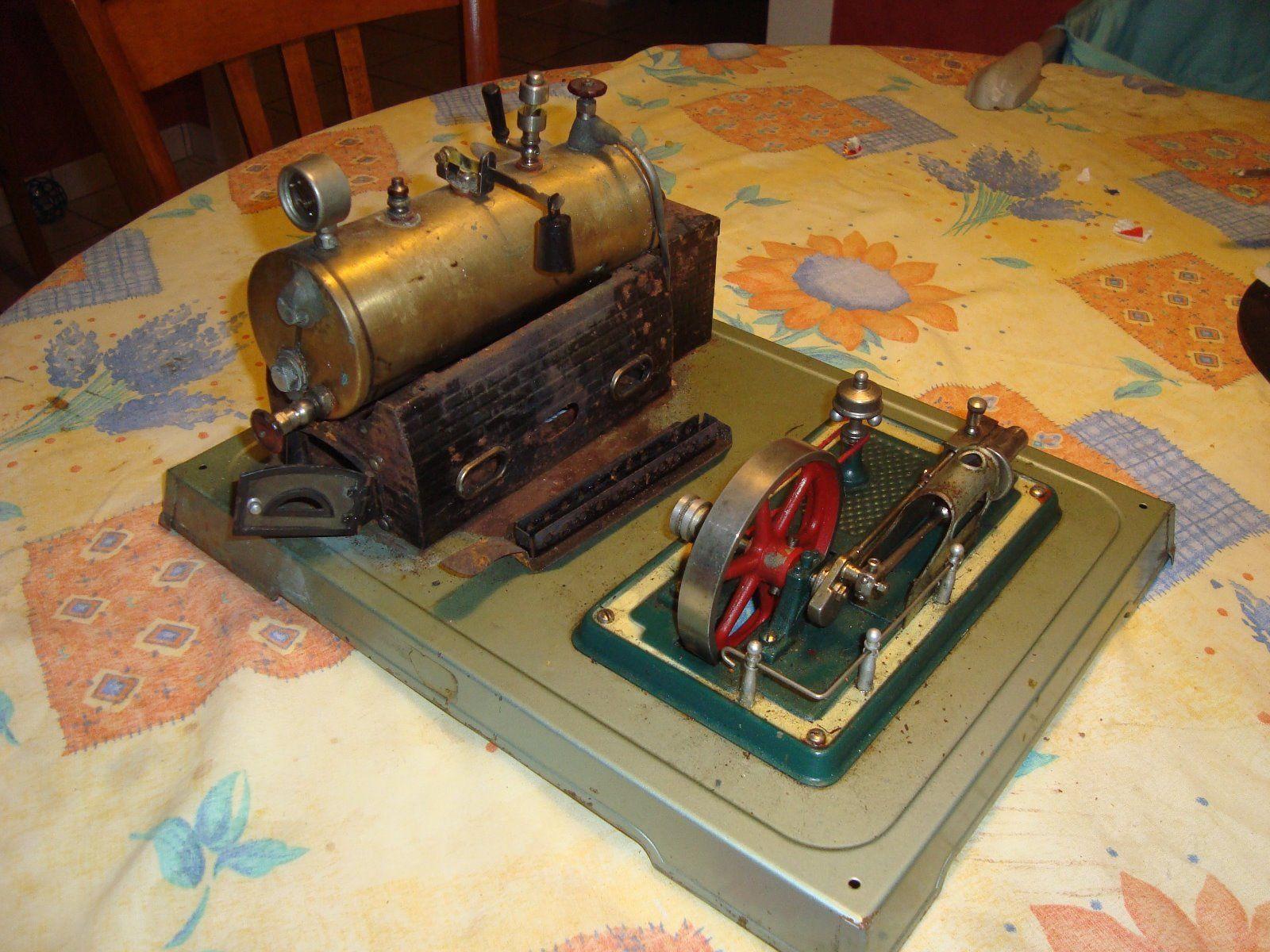 machine a vapeur jouet ancien tole ebay accessoires pinterest. Black Bedroom Furniture Sets. Home Design Ideas