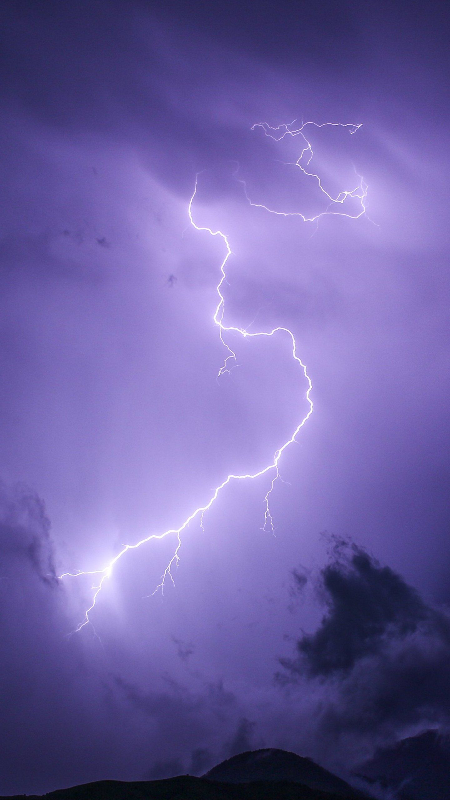 Purple Lightning Wallpaper - iPhone, Android & Desktop Backgrounds