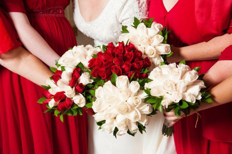 size 40 29767 1c95d fiori-matrimonio-bouquet-damigelle-sposa-rose-bianche-rosse ...