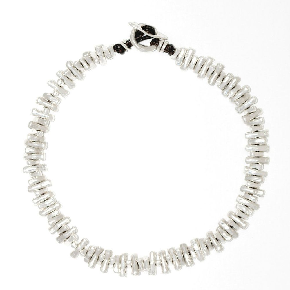 Visibly Interesting: Sterling Silver and leather choker by Lauren & Gracia