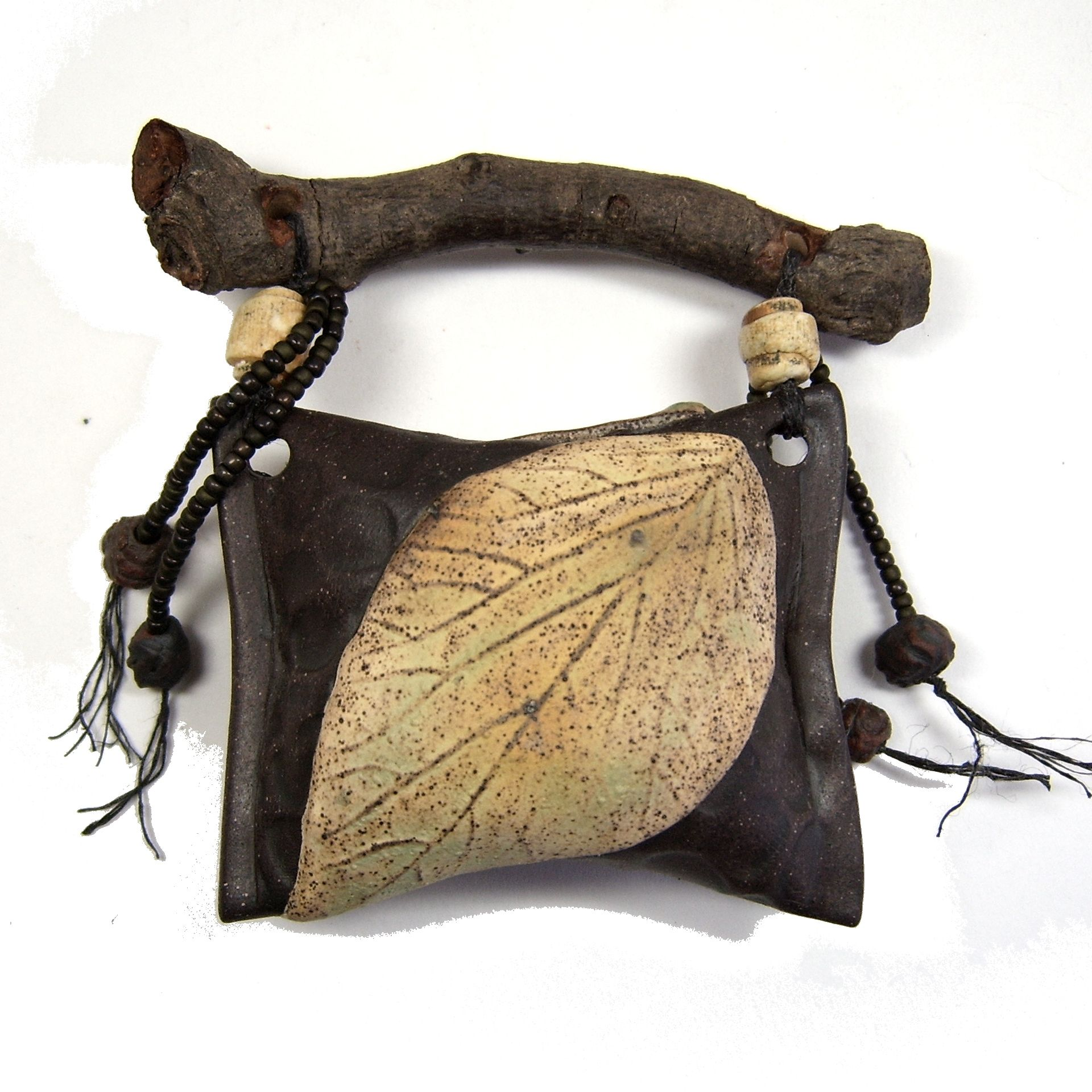 Found Wood Handled Leaf Rattle For Wandering The Garden By