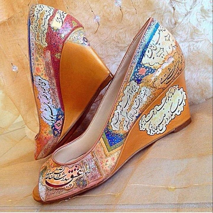 9b5bf47f5c11 Shoes with Persian writings