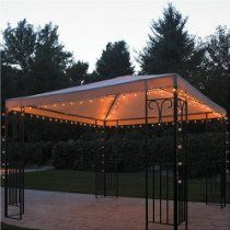 Outdoor Gazebo Lighting Enchanting Home 140 Lights Gazebo Lightsset Of 140 Mini String Lights Inspiration Design