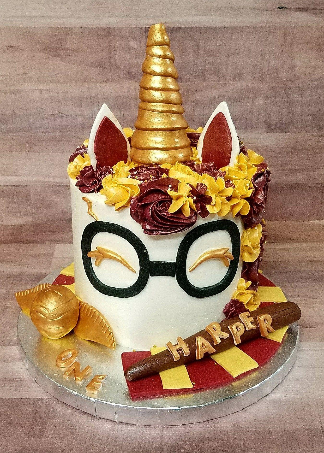 Harry Potter Unicorn Smash Cake Pastry Bag Cake Co Llc Cakes In