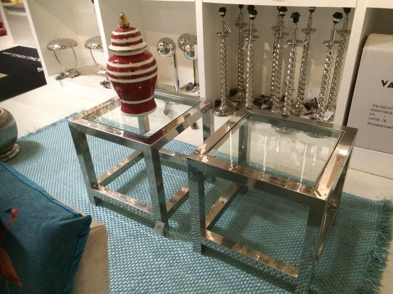 Beistelltische Aus Glas beistelltische aus chrom und glas zeitlose eleganz möbel