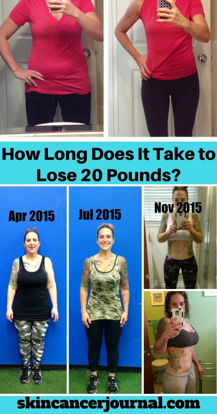 How long does it take to lose 20 pounds lose 20 pounds
