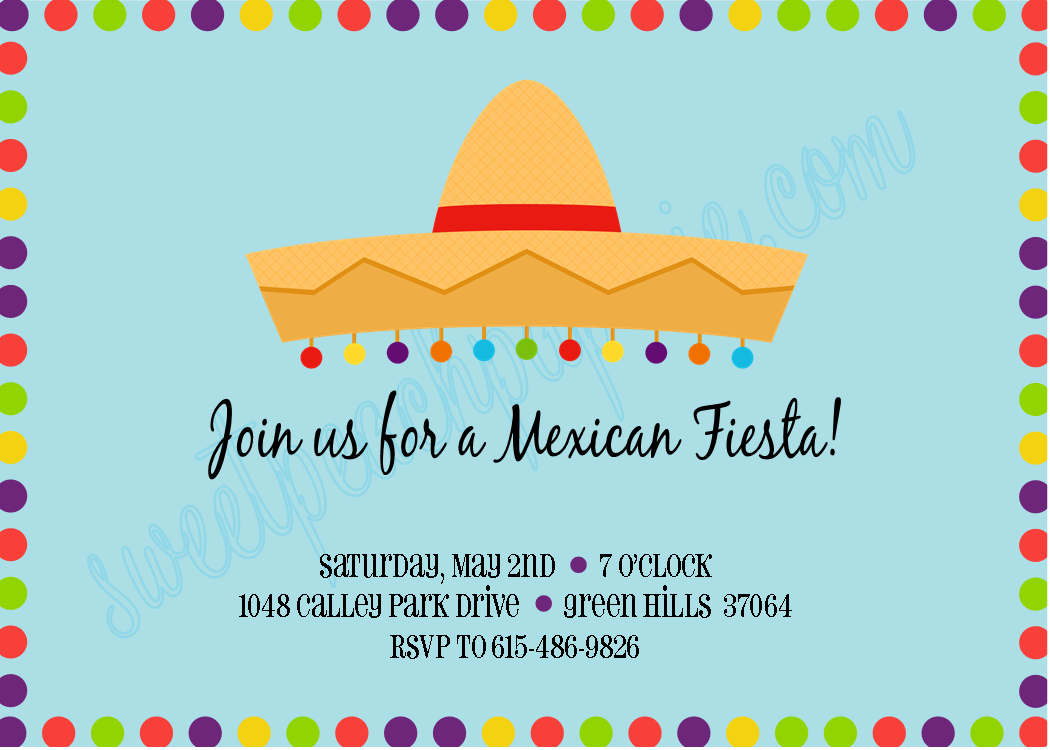 16 best images about mexican fiesta – Mexican Fiesta Party Invitations