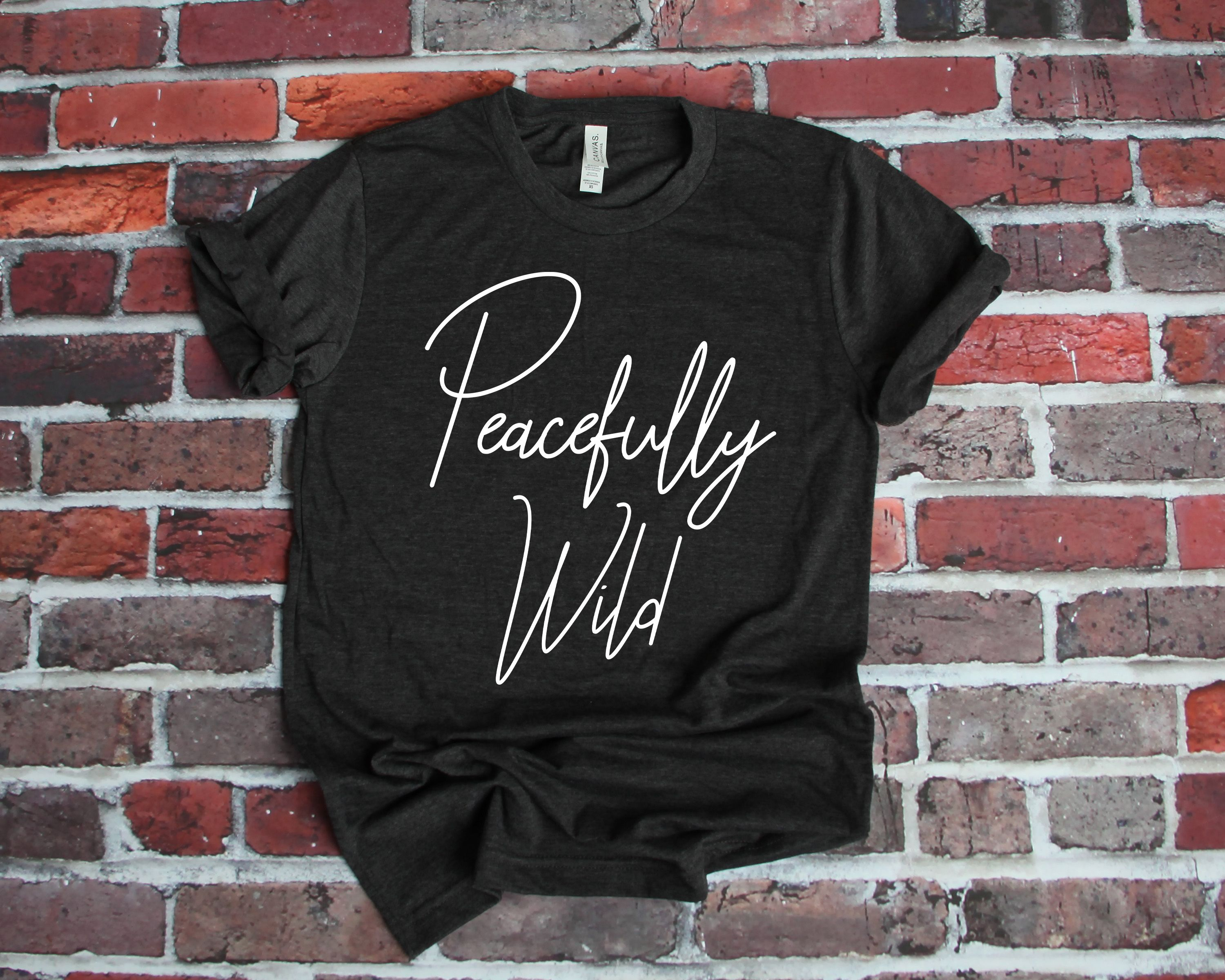 Yoga Clothes Yoga Shirt Peacefully Wild Shirt Unisex Shirt Yoga Tee Good Vibes Shirt Yoga T Shirt Gift For Her Shirts With Sayings In 2020 Good Vibes Shirt Vibes Shirt Funny