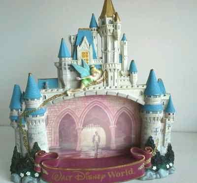 Vintage Walt Disney Frame World Tinkerbell Castle Photo Picture Glitter Tower | eBay
