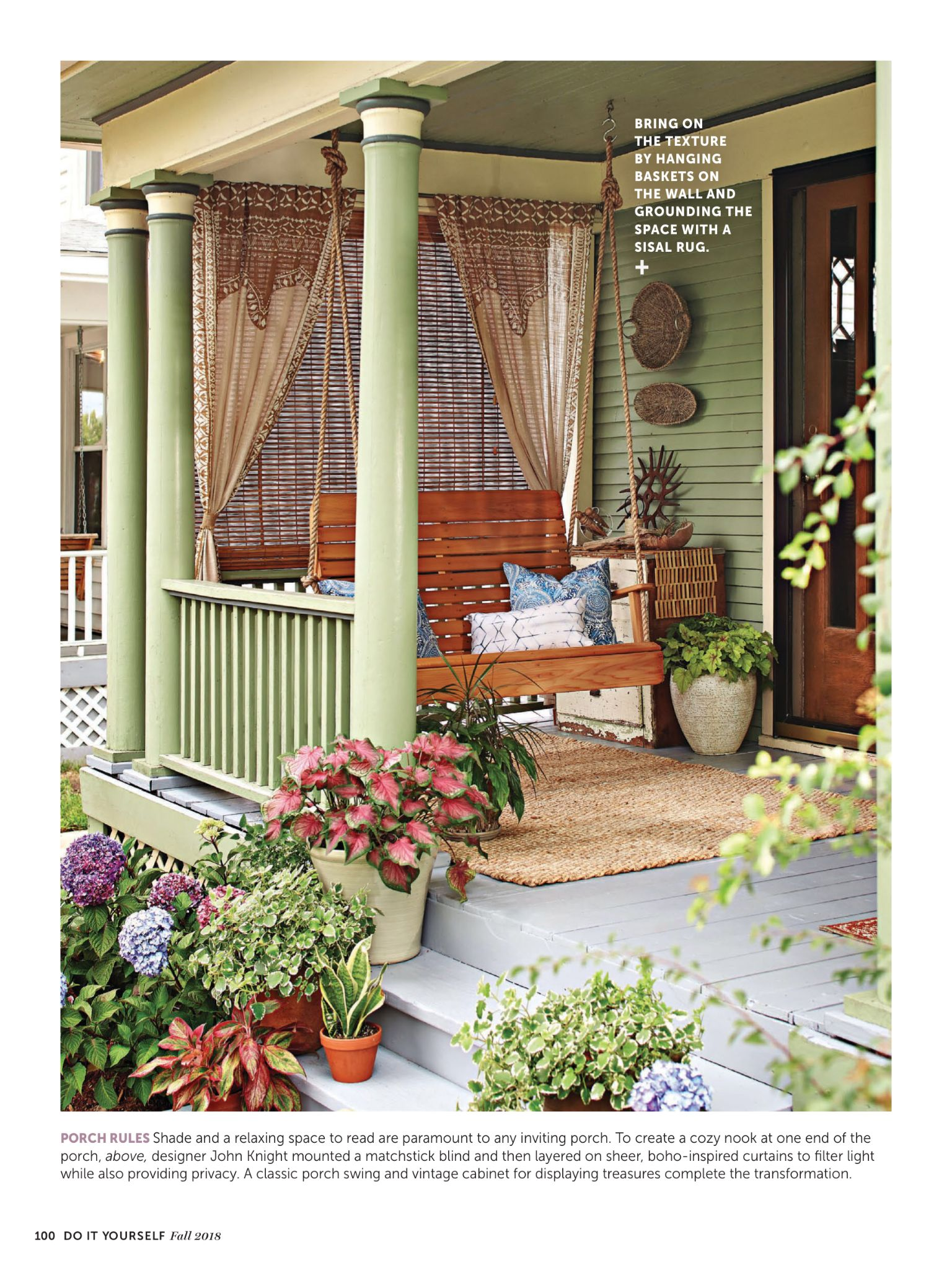 """Do It Yourself Home Design: """"Take A Seat"""" From Do-It-Yourself Magazine, Fall 2018"""