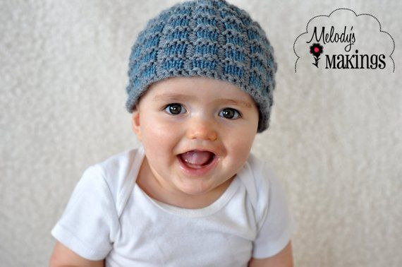 5d0f6a60f Simple Square Beanie Knitting Pattern - Sizes Preemie through Adult ...