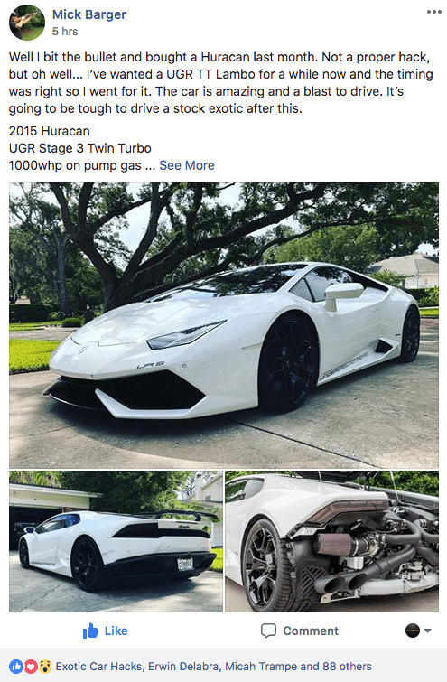 buy course  exotic car hacks  price trend