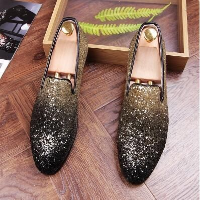 872a5c7c90a7 Mens Gold Shoes Fashion Casual Nightclub Bars Party Superstar Shoes Sl –  menstights