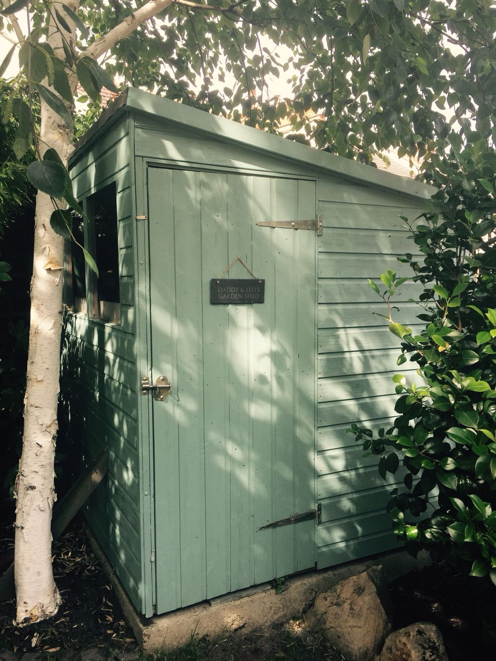 Garden Sheds Exeter contemporary shed finished with sadolin superdec in speculum